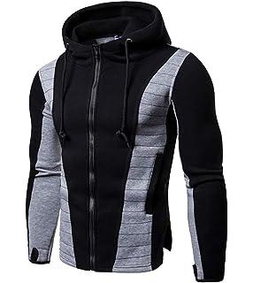 Nanquan Men Slim Fit Long Sleeve Color Contrast O Neck Jersey Sweater