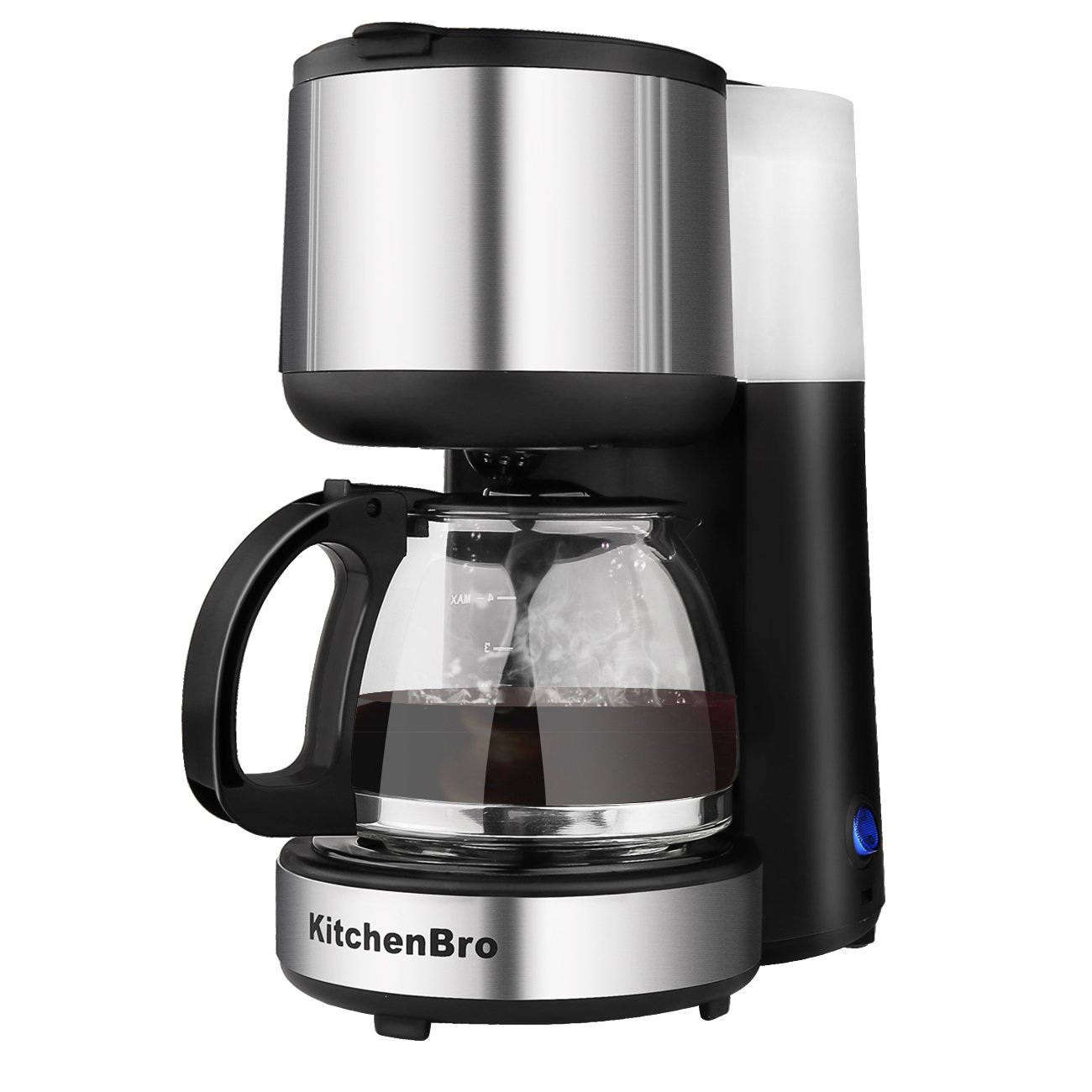 Coffee Maker 4 Cup Stainless Steel with Warming Plate by KitchenBro