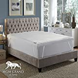 MGM GRAND Hotel at home Platinum Collection 5'' Pillow top Down & Feather Bed / Mattress Topper filled with Feathers and Goose Down Alternative Fiber -100% Cotton Feather Proof, Baffle Box (King)