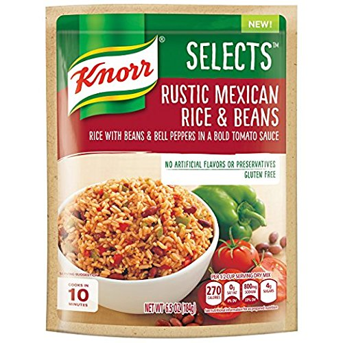 Knorr Selects Rice Side Dish, Rustic Mexican Rice & Beans, 6.5 Ounce ( 4 pack )