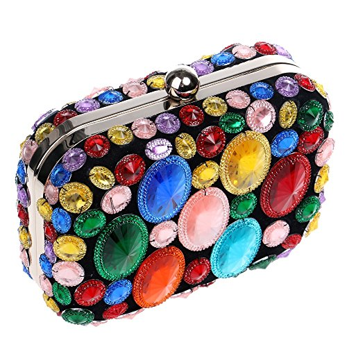 Evening Shoulder Wedding Evening Dinner Party Bags Women Bags multicolor Small Purse Acrylic Clutches Beaded With KYS For Day Chain wqW0aRCOx