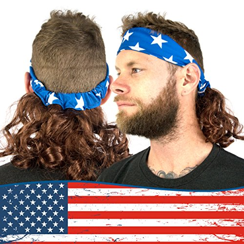 Freedom Mullets Headband Wig - Shoot for The Stars -