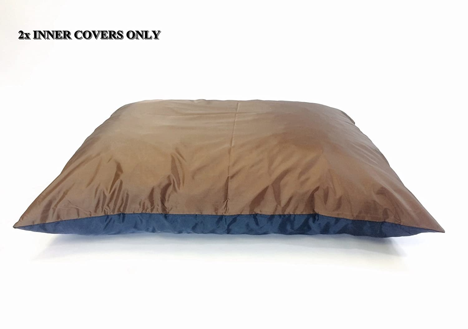 "2 Quantity of 47""x29"" Large size Top Brown Full Waterproof Bottom Blue Breathable Water Resistant Flat Dog Bed Liner - Internal Cover Case"