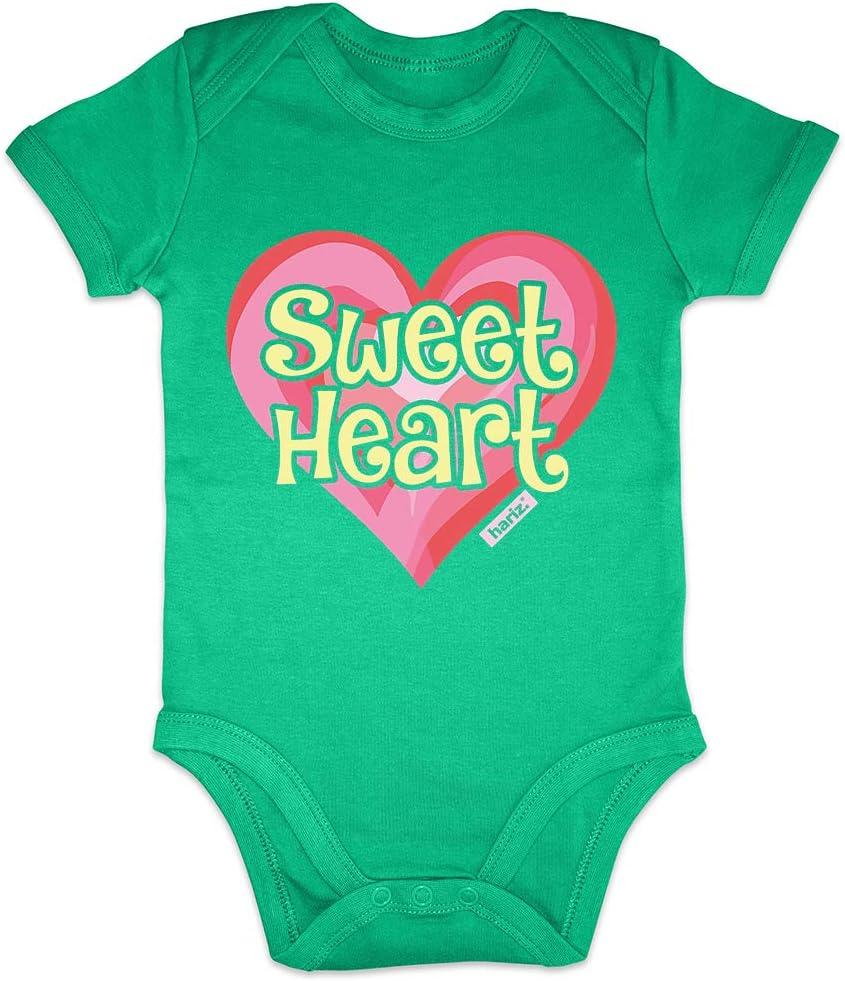 Hariz Baby Body de manga corta Sweetheart Baby frase divertido con texto de Navidad Tarjeta de regalo para el Día de la Madre, diseño de rana, color verde, 6-12 meses