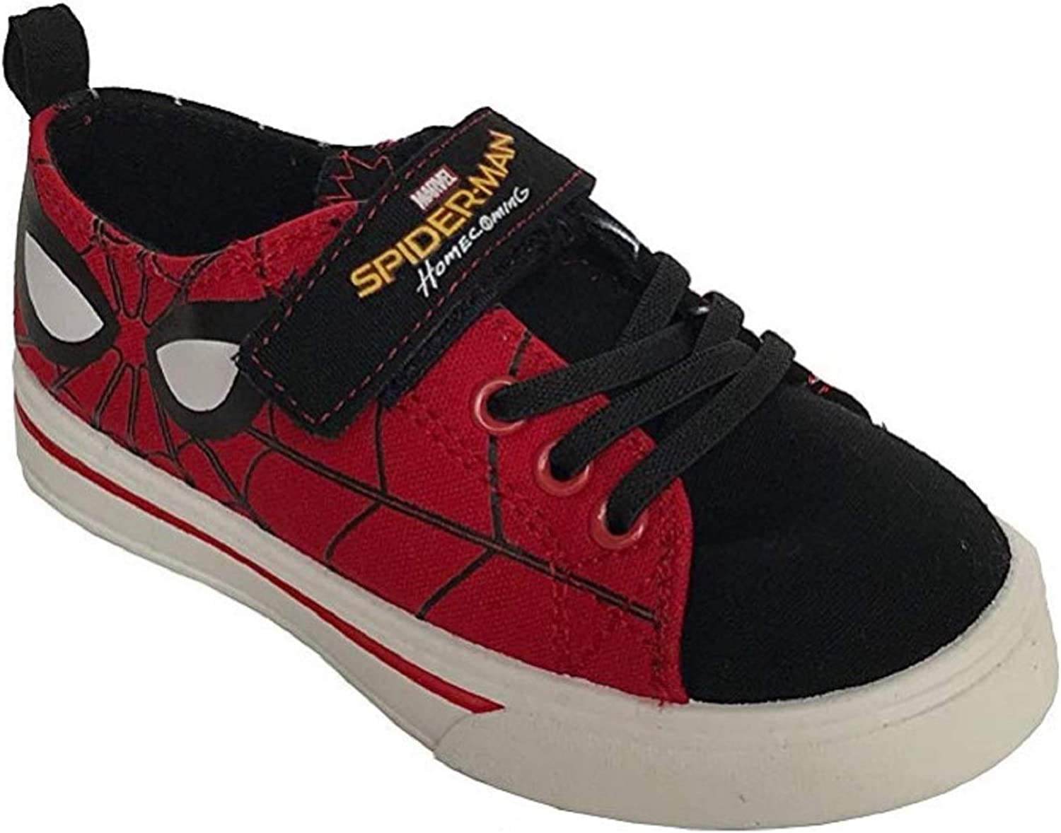 Marvel Spider-Man Homecoming Boys Casual Canvas Shoes Toddler Velcro Slip on Sneaker