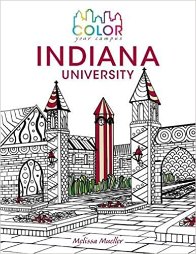 Amazoncom Color Your CampusIndiana University An Adult