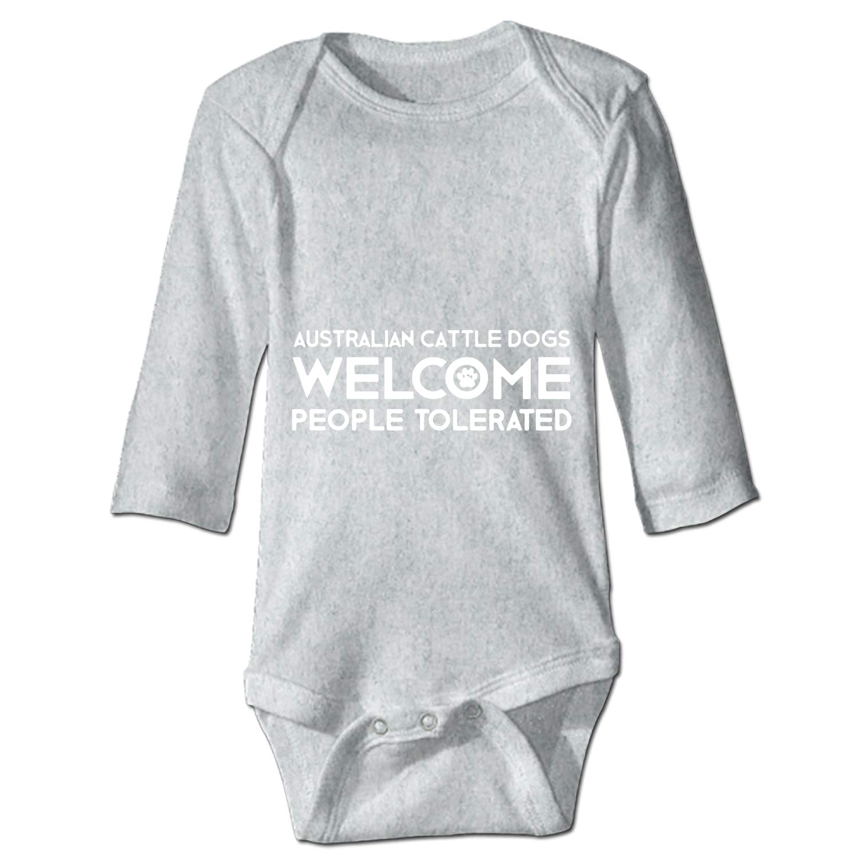 Chenqin-s Australian Cattle Dog Cotton Unisex Baby Infant Long Sleeve Onesies Bodysuits