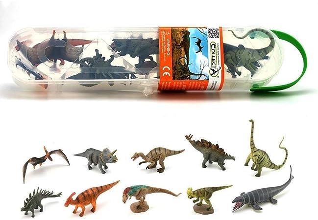 Collecta - Dinobox Mini Dinosaurios 1 Pack 10 Un. R.-S-.A1101 (901A1101): Amazon.es: Juguetes y juegos