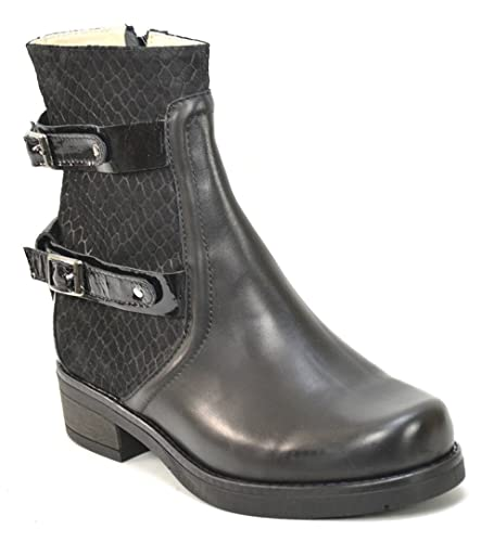 Ogswideshoes Erika Black Leather Boots Extra Wide C Width 3e Width