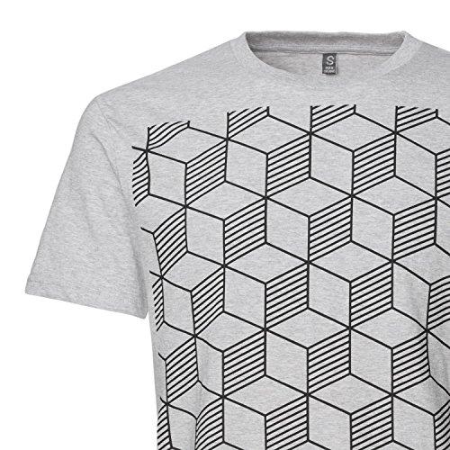 THOKKTHOKK Sashiko T-Shirt black/melange grey