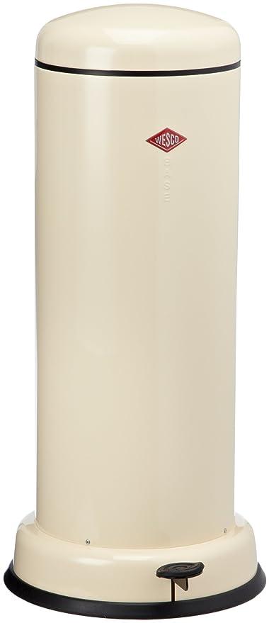 Wesco Baseboy 20 Liter Amandel.Wesco Baseboy Powder Coated Steel Waste Bin 30 Litre Almond