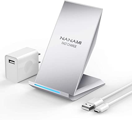 NANAMI Qi-Certified 10W Max Fast Wireless Charging Pad Wireless Charger Samsung S10//S10e//S10 Plus//S9//S8//Note 10//9//8 Airpods 2 Compatible with iPhone SE 2020//11//11 Pro//11 Pro Max//XS MAX//XR//XS//X//8