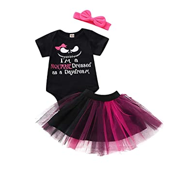 Newborn Infant Baby Girl/'s Romper Tutu Skirt Halloween Costume Outfits Clothes