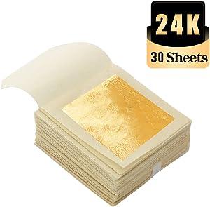 KINNO Edible Gold Leaf Sheets 30 Sheets 1.7