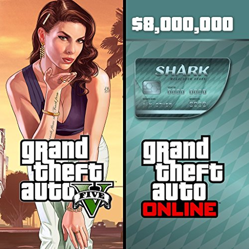 Grand Theft Auto V & Megalodon Shark Card Bundle - PS4 [Digital Code] (Shark Gta)