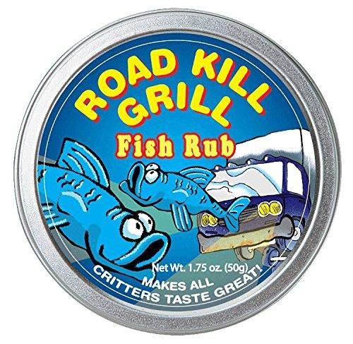 Fish Rub Seasoning (Dean Jacob's Road Kill Grill Fish Rub ~ 1.9 oz. Tin)
