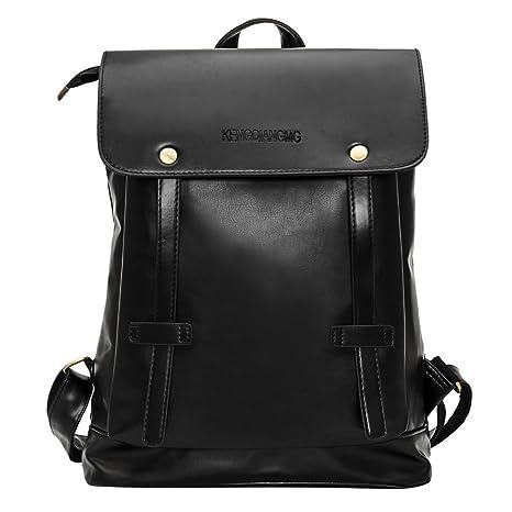 3c2e83b85d Faux Leather Backpack Casual Backpack Travel Satchel Laptop Laptop Backpack  College School Bag Vintage Travel Daypack