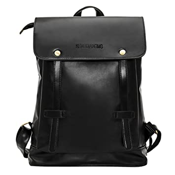 Faux Leather Backpack Casual Backpack Travel Satchel Laptop Laptop Backpack  College School Bag Vintage Travel Daypack 4633ba779b