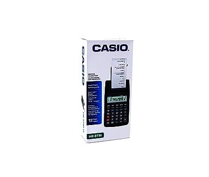 Calculadora Impresora CASIO HR-8TM - 12 dígitos, Cálculo ...