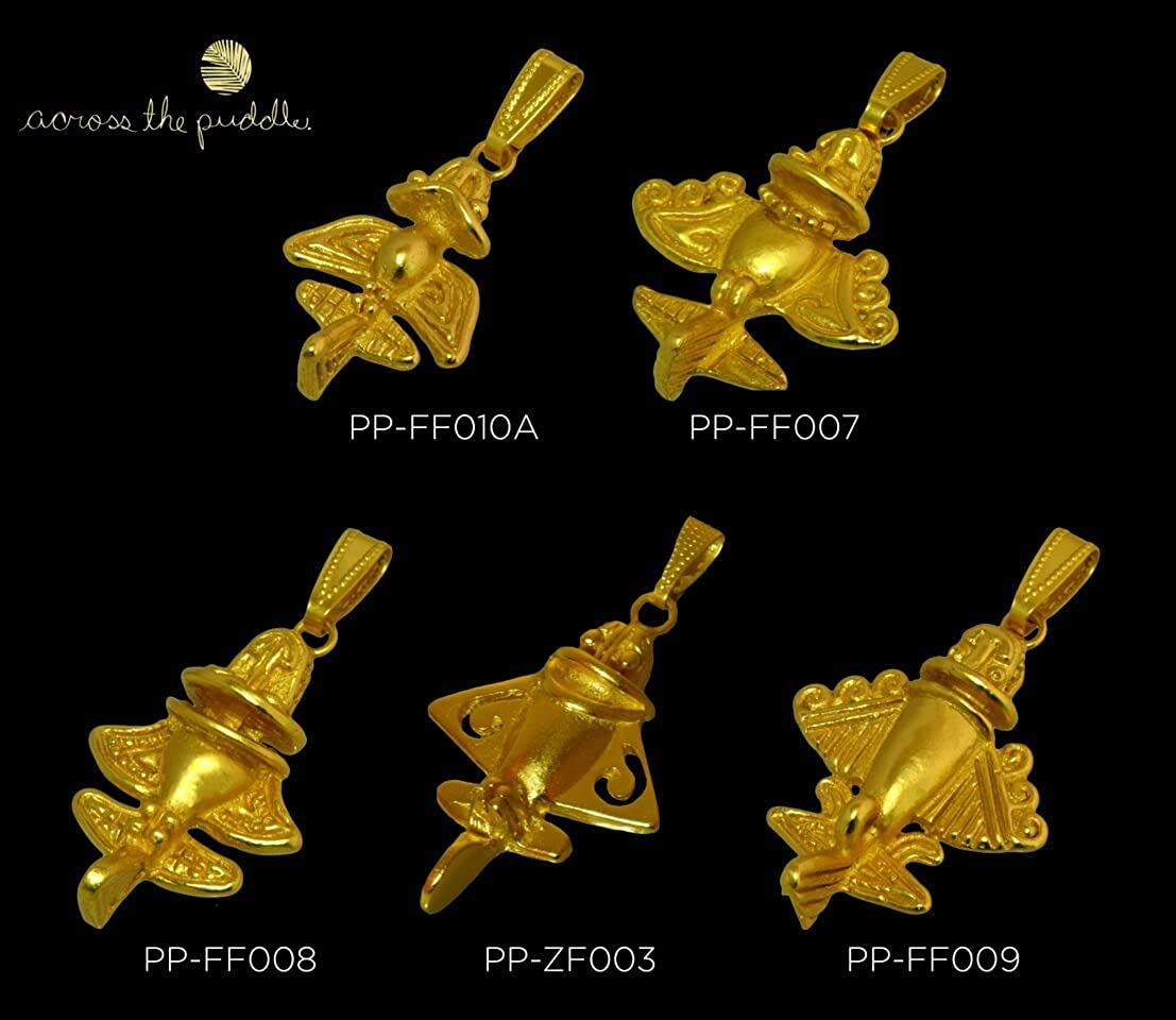 Astronauts & Space Travel Golden Jet-9 Drop Earrings Fashionable And Attractive Packages Cheap Sale Across The Puddle 24k Gp Ancient Aliens Flyer