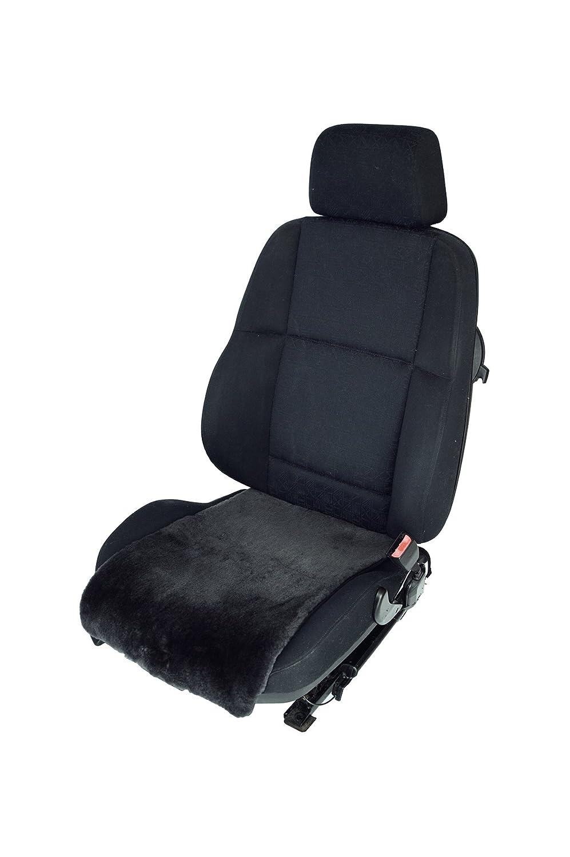 Leibersperger Felle Autositz-Auflage//Aufleger aus Merino Lammfell Premium 36cm Breite x 60cm L/änge f/ür Sitzfl/äche Schiefer