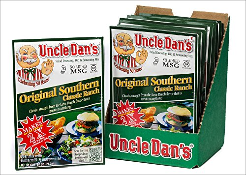 (Uncle Dan's Original Southern Classic Ranch Dressing, Dip, and Seasoning Mix - 12 Pack Case)
