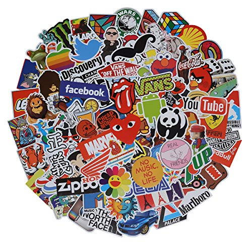 Stickers Pack Cool, 100 Pcs Vinyl Waterproof Stickers,