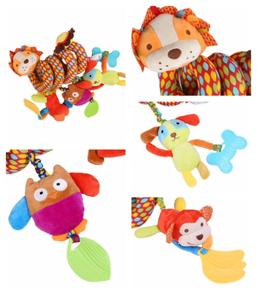 HENGSONG Bebe Hochets Jouets Poussette Spiral Hanging Jouets /éducatifs Multifonction Peluches Lit Autour El/éphant