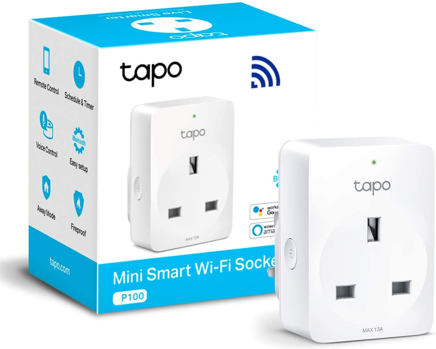 TP-Link Tapo Smart Plug Wi-Fi Outlet, Works with Amazon Alexa (Echo and Echo Dot), Google Home 31% OFF £8.99 @ Amazon