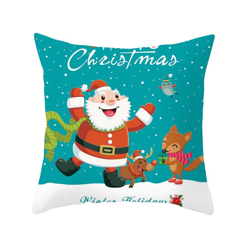 Amazon.com: Qisc Funda de almohada decorativa, 18.0 x 18.0 ...