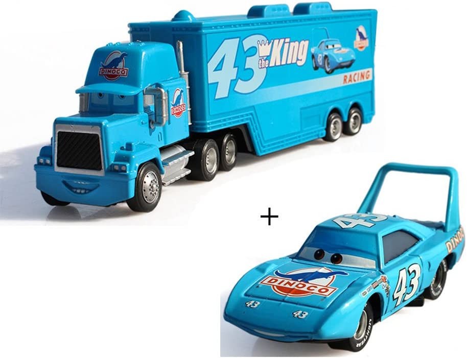EASTVAPS Racer Metal Pixar Car Trucks and Cars Lighting Tío Mike The King Alloy Toy Model