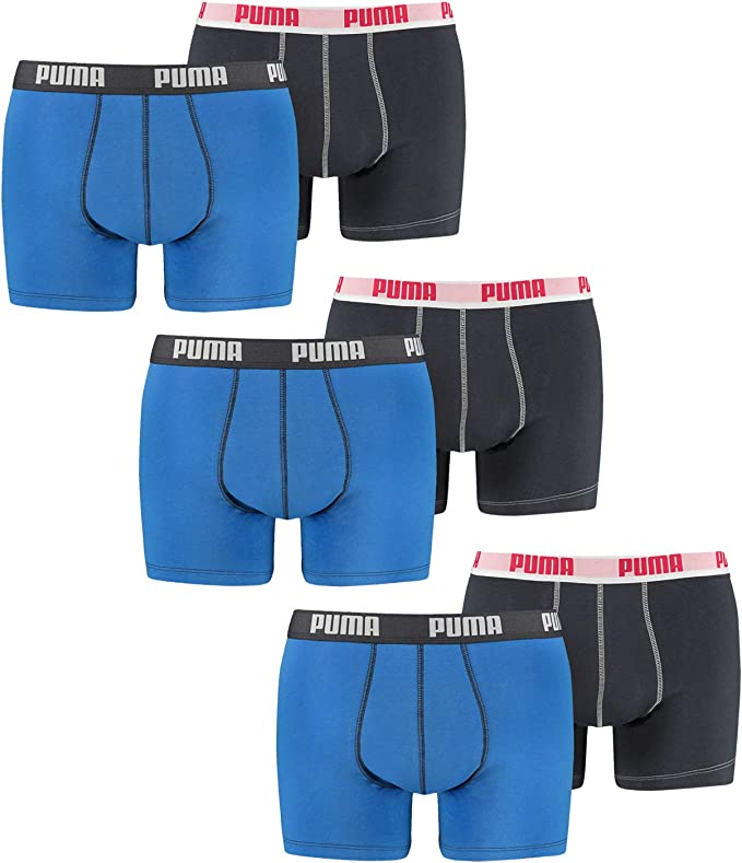 Puma Basic - Bóxer Básico de Hombre Pantalón Corto Paquete de 6 En ...