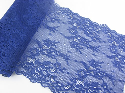 Elastic Lace Trim Blend Color Spandex Lace 10 Yards Soft Delicate Lace Trim for DIY/Doll Dress/Wedding Sewing ... (6inch-11inch, 5 Blend Color)