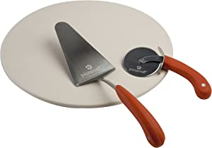 Pizzacraft Round Pizza Stone with Cutter & Server (Set of 3) - PC0006