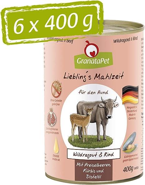 GranataPet Comida húmeda para Perros, Comida húmeda para Perros, sin Cereales ni azúcares, 6 x 400 g