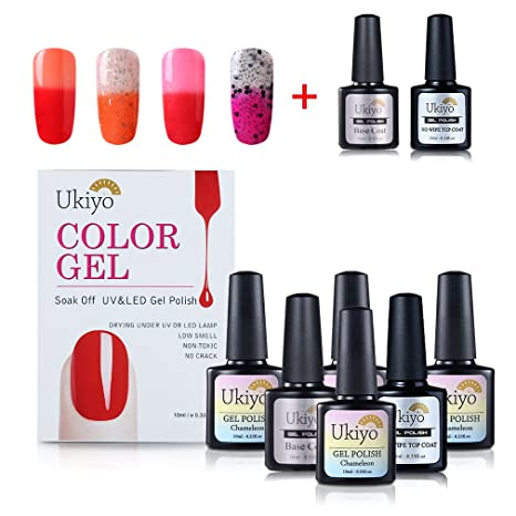 Gel Nail Polish Set – Color de uñas que cambia con base coat y no limpiador