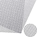 SATINIOR 2 Packs Stainless Steel Woven Wire Mesh Rodent Proof Screen Mesh for Cage Net Mesh, Cabinets Wire Mesh, Window Screen Door Mesh, 11.8 x 11.8 Inch