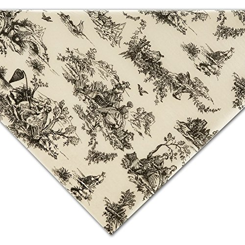 Black on Ivory Toile Tissue Paper - 20in. x 30in. (20 (Toile Wrapping Paper)