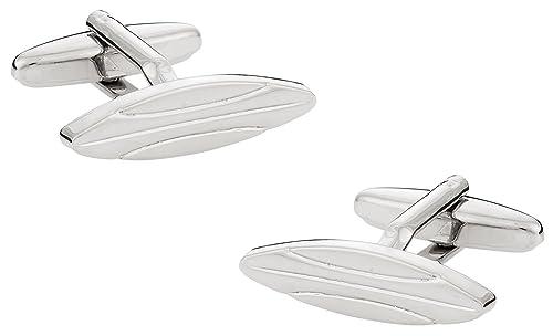 Gemelos de plata con forma de tabla de surf