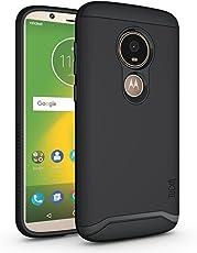 Moto E5 Play Case, TUDIA Slim-Fit Heavy Duty [Merge] Extreme Protection/Rugged but Slim Dual Layer Case for Motorola Moto E5 Play (Matte Black)