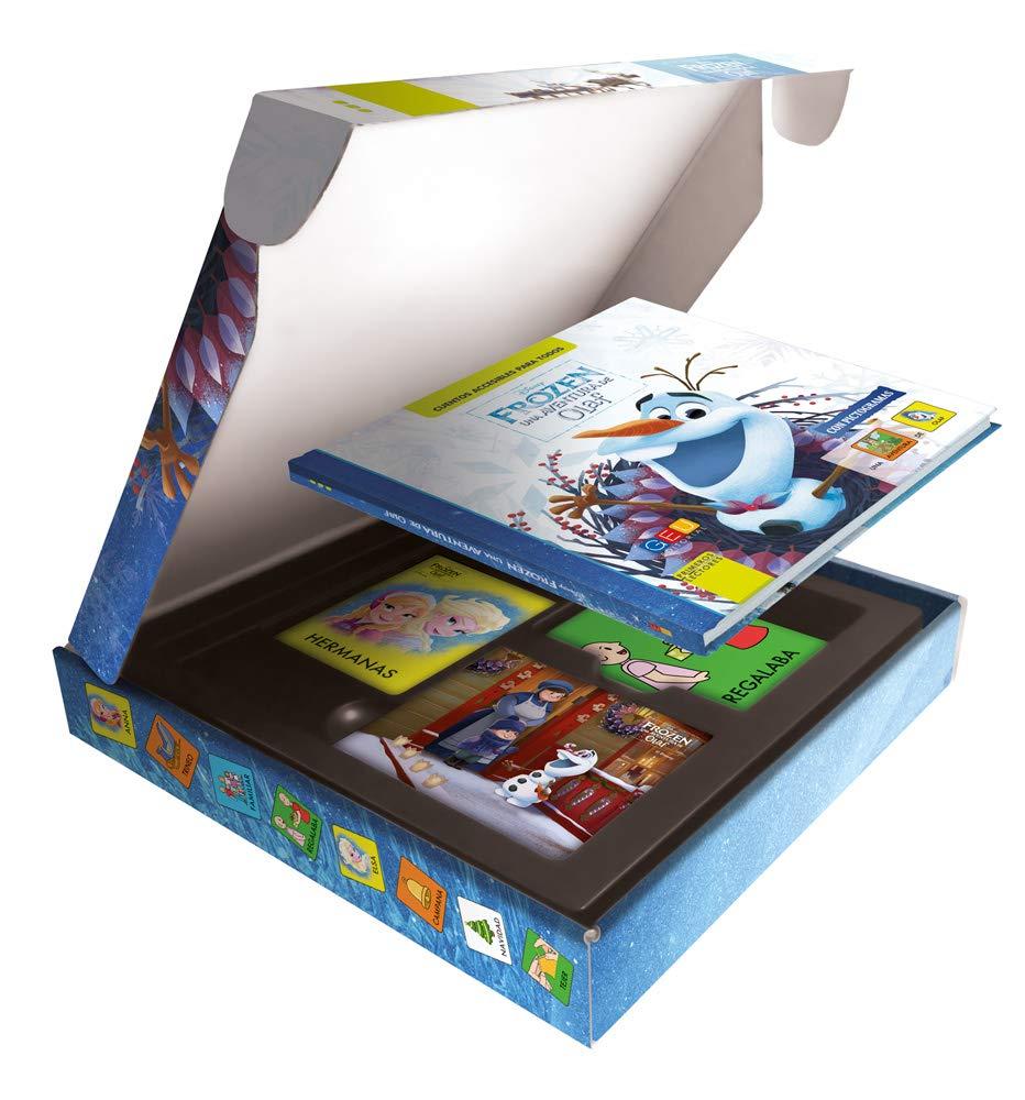 Olaf - Cuento con pictogramas / Editorial GEU / Facilita y fomenta la lectura / A partir de 3 años / Con tarjetas ilustradas en alta calidad: Amazon.es: DISNEY: Libros