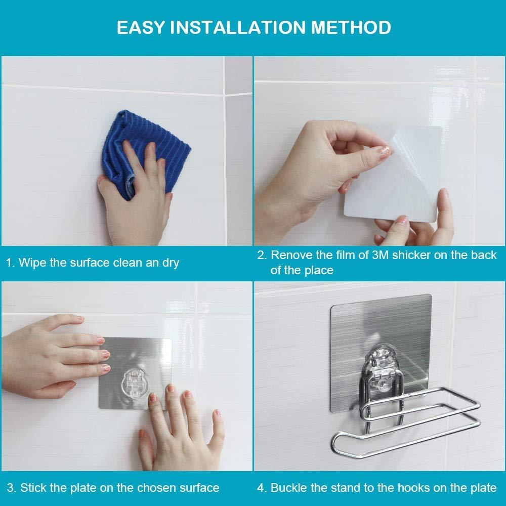 Stainless Steel Self Adhesive Toilet Paper Holder Tissue Paper Roll Holder