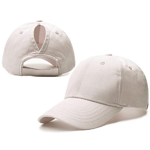 COCO LEE Trend Baseball Cap for High Ponytail Women s Messy Bun Glitter  Trucker Baseball Cap Special e0405626ce3