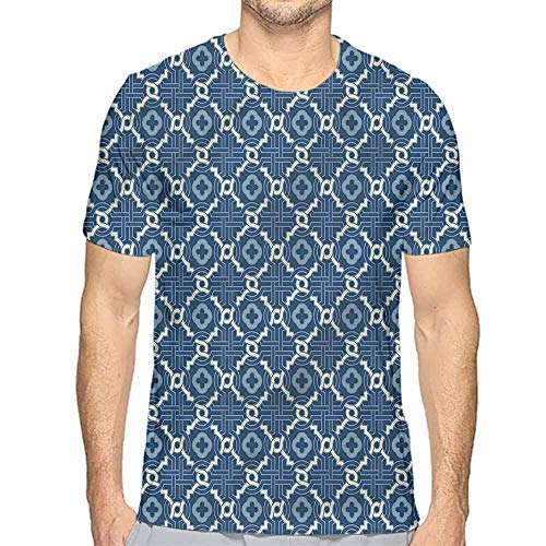 t Shirt Quatrefoil,Tessellation Art Printed t Shirt M -