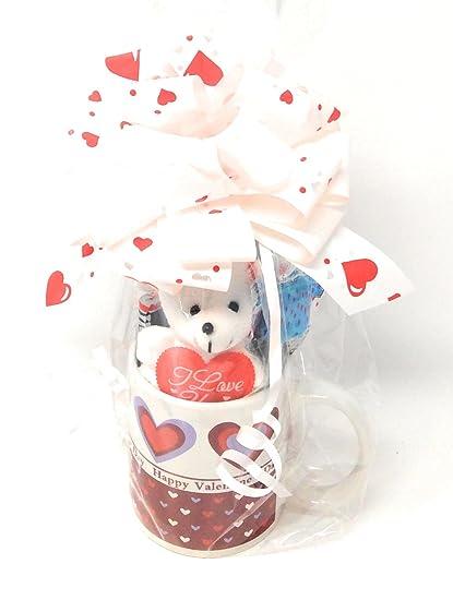 Amazon Com Valentine S Day Gift Set 1 Happy Valentine S Day Cup