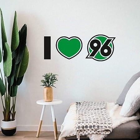 Hannover 96 Wandtattoo I Love 96 Wandsticker Wand Dekor H96 Plus Lesezeichen I Love Hannover Amazon De Sport Freizeit