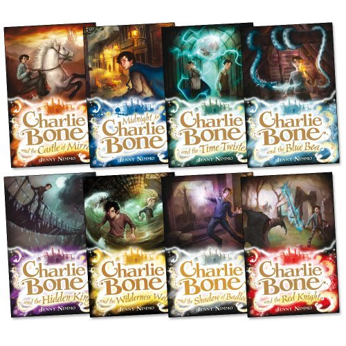 Charlie Bone Pack, 8 books, RRP £47.92 (Blue Boa; Castle of Mirrors; Charlie Bone & Hidden King; Charlie Bone & The Red Knight; Charlie Bone:Shadow Of Badlock; Charlie Bone:Wilderness Wolf; Midnight For Charlie Bone; Time Twister). (Children of the Red King) - Charlie Pack