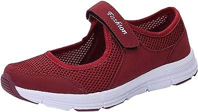 Tefamore Zapatos de Mujer Zapatillas Respirable Mocasines Deportes Casual Sandalias Antideslizantes Fitness Correr Calzado Deportivo Zapatilla Malla Plataforma: Amazon.es: Zapatos y complementos
