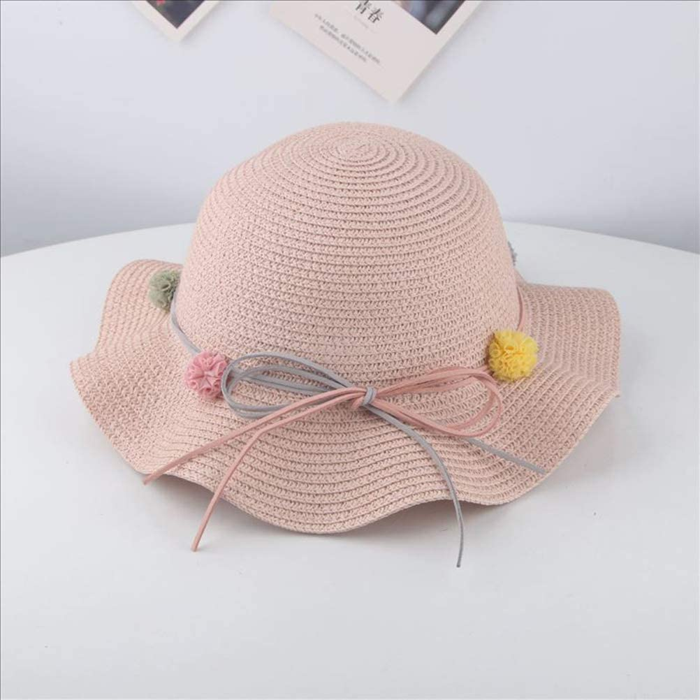 TENDYCOCO 2pcs Kids Straw hat Sun Hats Summer Beach Hats Outdoor Activities