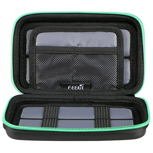 EEEKit Portable Travel Cable Organizer Electronics Accessories Cases Digital Bag for Hard Drives, Charging Cords, USB Charger Adapter, USB Flash Drives, Data Cable (7.3 in x 4.5 in x 1.6 in) by EEEKit (Image #1)'